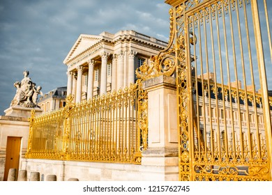 The golden gate of the palace of Versailles in France