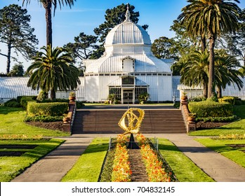 Golden Gate Park Flower Conservatory, San Francisco, California.