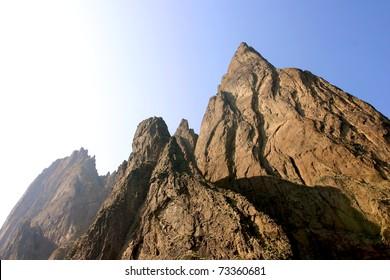 Golden gate rock in Kara-Dag mountains