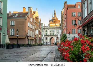"""Golden Gate (Zlota Brama) on Dluga street in Gdansk, Poland. Translation: """"In agreement small republics grow, because of disagreement great republics fall"""""""