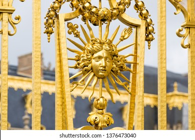 Golden gates of the Palace of Versailles