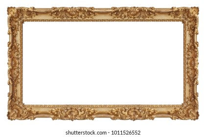 Golden (gilded) frame for paintings, mirrors or photos