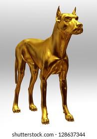 golden great dane or german Mastiff