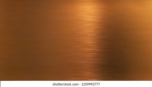 Golden hairline stainless. Shiny gold foil, bronze, or copper metal pattern surface texture. Close-up of interior material for design decoration background