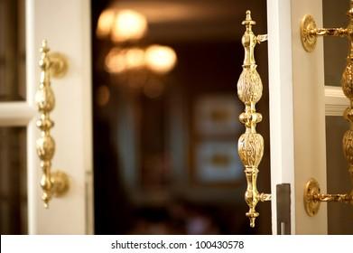 Golden Handle Door Entrance