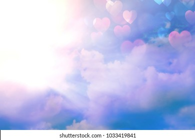 Golden heaven light Hope Faith Love concept abstract blurred background  evening sunset scenario by nature light blasting sun with rays and reflections and ramadan month