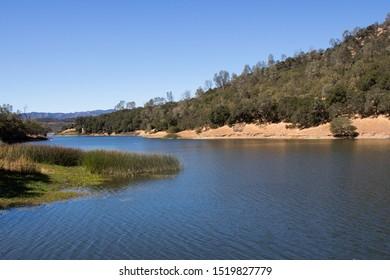 Golden hills at Lake Berryessa Napa County California