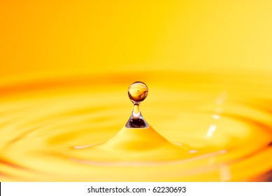 golden honey or water drop