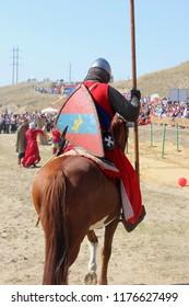 Golden Horde costume. Ukek is a medieval city in Russia.