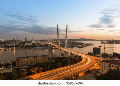 Golden Horn Bridge in Vladivostok