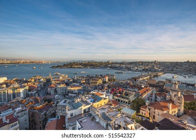Golden Horn at Sunset in Istanbul, Turkey