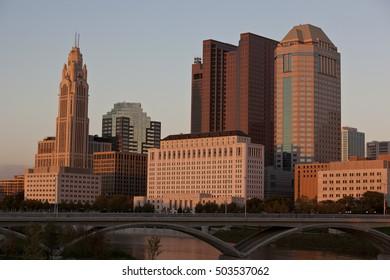 Golden hour in Columbus, Ohio