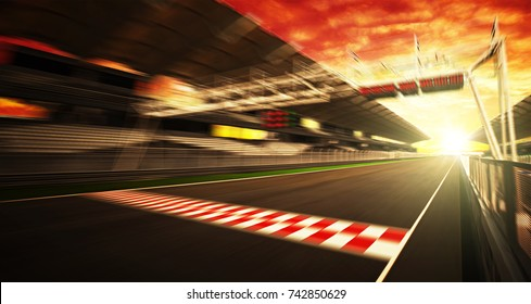 Golden Hour motion blur race track
