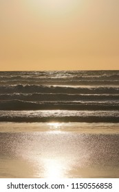 Golden Hour On The Beach