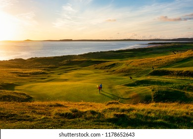 Golden Hour at Rosses Point - A beautiful sunset over the 17th hole