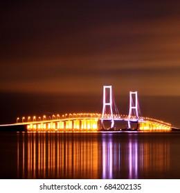 Golden Hour at Suramadu Bridge