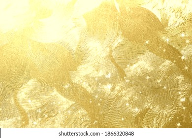 Golden Japanese paper and light background material  - Shutterstock ID 1866320848