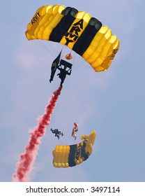 Golden Knights Parachute team.