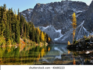 Golden Larch and Blue Lake Trail