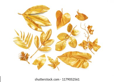 golden leaf design elements.