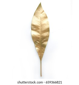 golden  leaf design elements. Decoration elements for invitation, wedding cards, valentines day, greeting cards. Isolated.