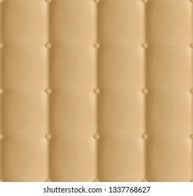 Padded Leather Studded Effect Wallpaper