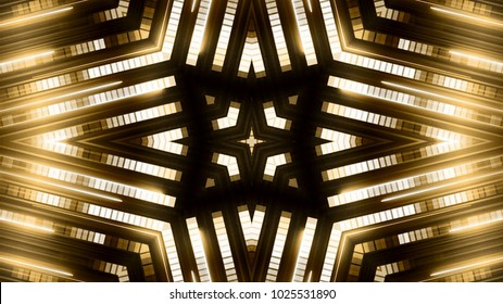 Golden light stage