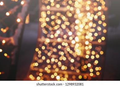 golden lights background