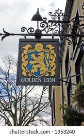 Golden Lion Pub Sign in Chester