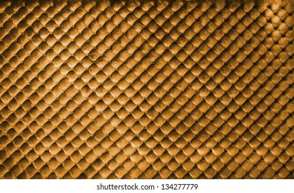 Golden luxury leather buttoned background