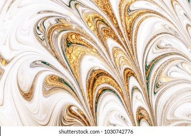 Golden marbleized effect. Ancient oriental drawing technique. Natural Luxury. Style incorporates the swirls of marble or the ripples of agate for a luxe effect. Very beautiful painting