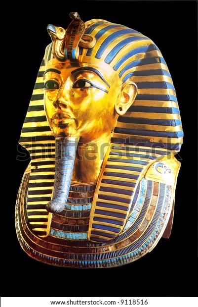 golden mask of egyptian pharaoh