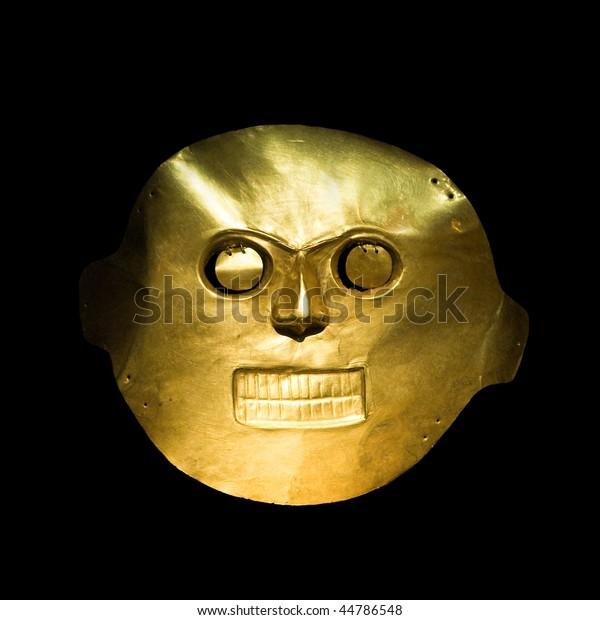 コロンビア・ボゴタ・ゴールド・ミュージアムの金の仮面