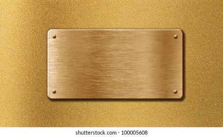 golden metal plate