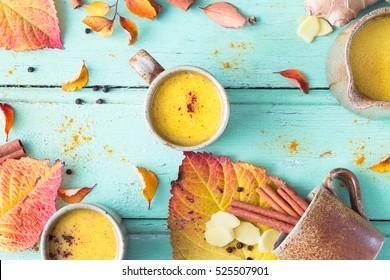 Golden Milk or turmeric tea