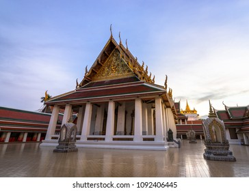 Golden Mountain Temple or Wat Saket Bangkok. The mountain was construct since the King Rama III  and the Chedi was build in the King Rama IV region. Now, it is one of the Bangkok landmark and tourists