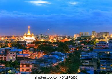 Golden Mountain Temple,  Wat Saket Bangkok, Thailand