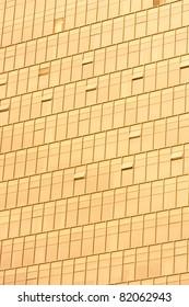Golden Office building glass wall
