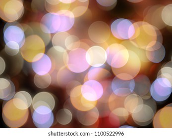 Golden orange blurred lights with purple and blue highlights beautiful abstract celebration background