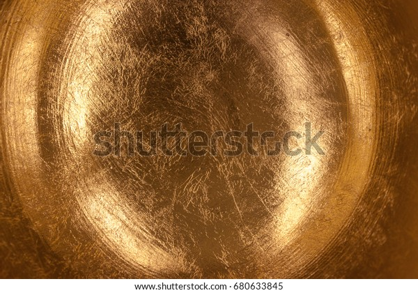 Golden Orb Abstract Background