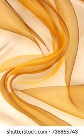 golden organza fabric wavy texture