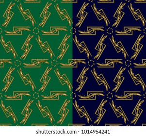 golden ornament in arabian style. Geometric abstract background. Pattern for wallpapers and backgrounds.