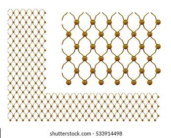 golden ornamental map for surface ornament, 3d Illustration