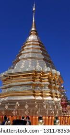 Golden Pagoda in Doi Sutep, Chiang Mai
