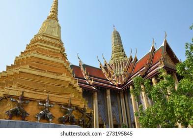 Golden pagoda in Grand Palace, Bangkok, Thailand