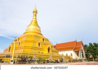 Golden pagoda at Kampangpetch province, Thailand