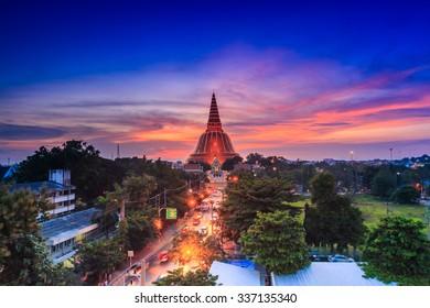 Golden pagoda Phra Pathom Chedi of Nakhon Pathom province Asia Thailand