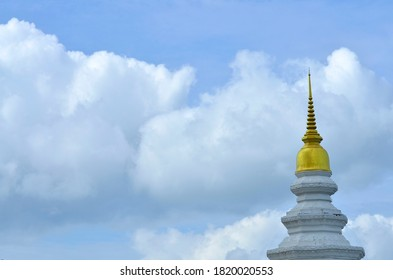 Golden pagoda in Thailand .Sky could background