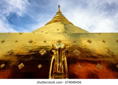 The Golden Pagoda, Wat Pra Singh and Wat Phra Singh are located west of the old city center of Chiang Mai.
