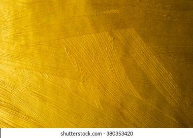 Golden Paint Brush Stroke Texture Background